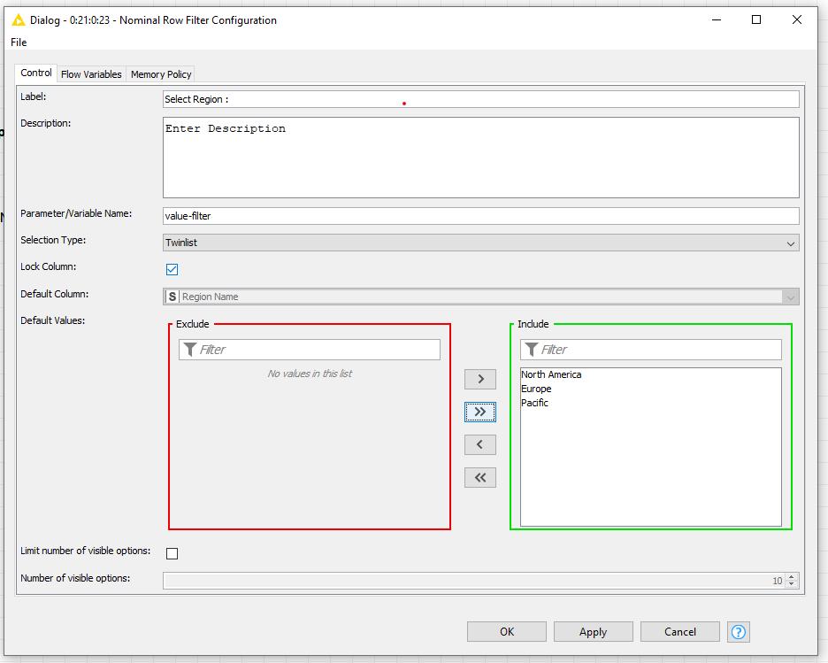 Configuration node