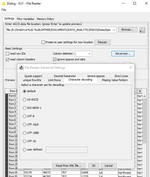 Liste de fichiers KNIME