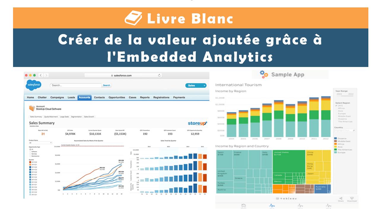 Livre Blanc : Créer de la valeur ajoutée grâce à l'Embedded Analytics