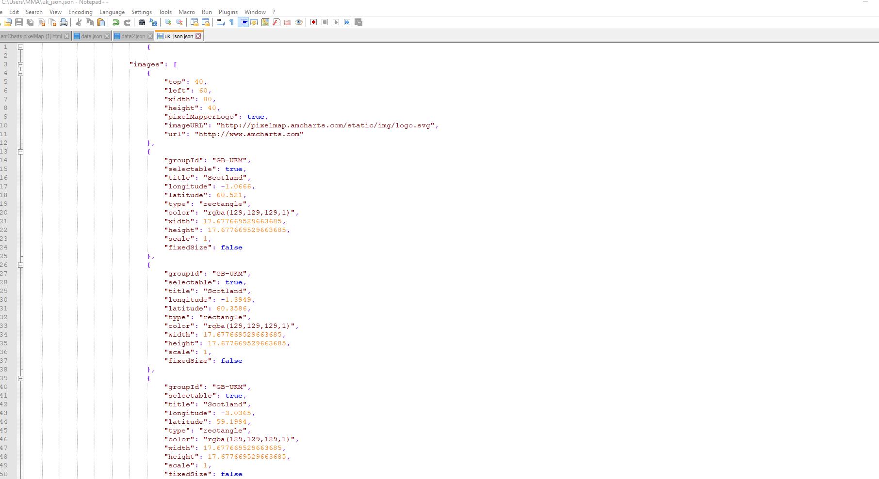 Hex map éditeur de texte
