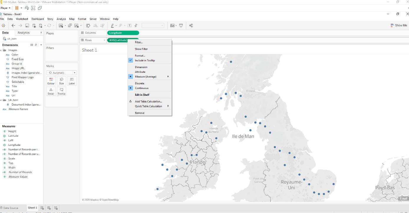 Comment créer une hex map sur Tableau