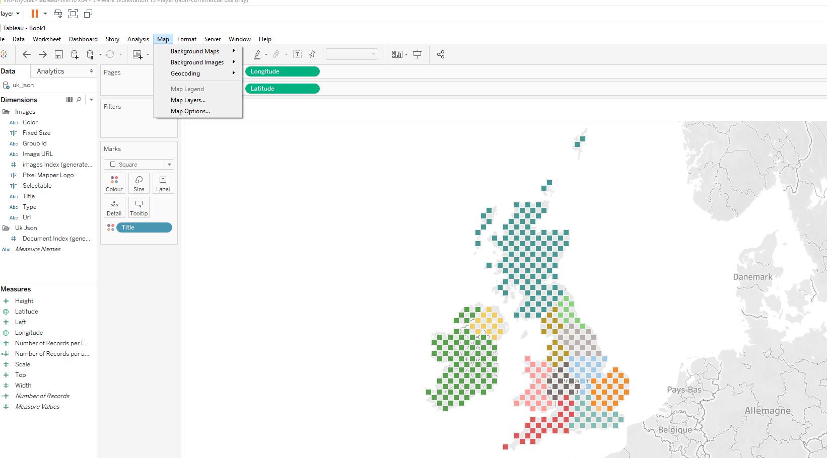 Créer une hex map sur Tableau