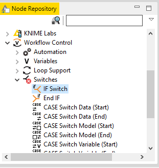 Node Clause IF KNIME