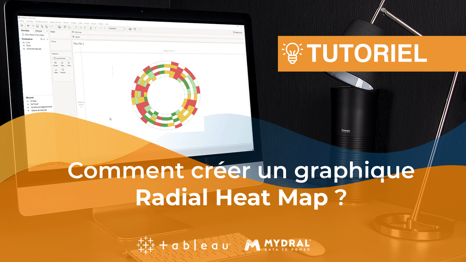 Radial heat map chart Tableau