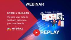 Replay webinar KNIME & TABLEAU